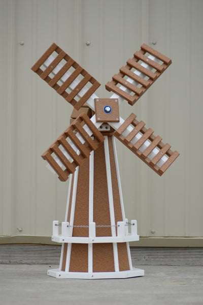 "30"" Octagon Poly Dutch Windmill (Carmel with white trim)"