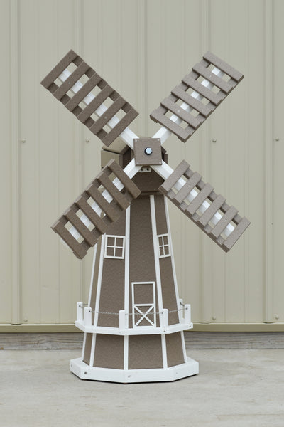 "46"" Octagon Poly Dutch Windmill, Clay/ white trim"