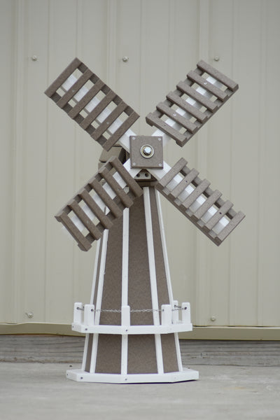 "30"" Octagon Poly Dutch Windmill (Clay/white trim)"