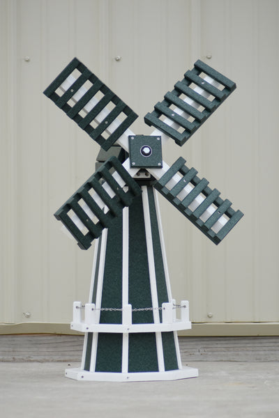 "30"" Octagon Poly Dutch Windmill (Green/white trim)"