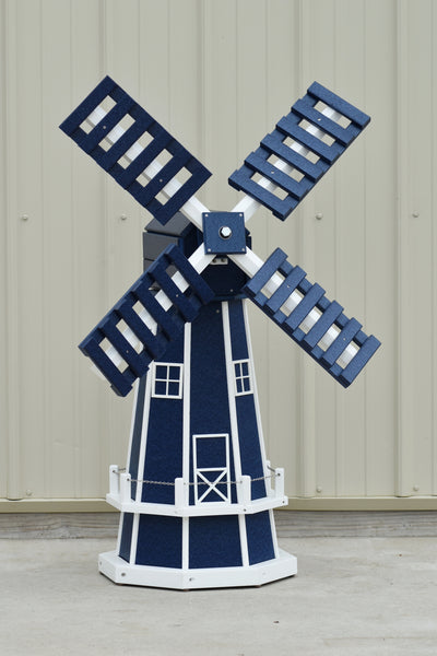 "46"" Octagon Poly Dutch Windmill, Patriot Blue/white trim"
