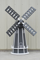 5 ft. Octagon Polywood Dutch Windmill (Gray/white trim)