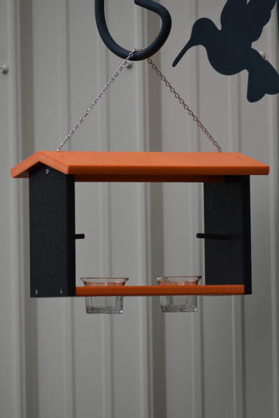 Poly Oriole Double Bird Feeder, Nectar, Jelly and Orange Feeder