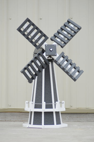 "30"" Octagon Poly Dutch Windmill (Gray/white trim)"