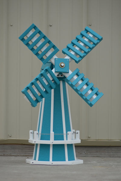 "30"" Octagon Poly Dutch Windmill (Aruba Blue with White trim)"