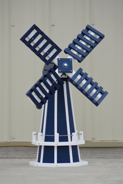 "30"" Octagon Poly Dutch Windmill (Patriot Blue with White Trim)"
