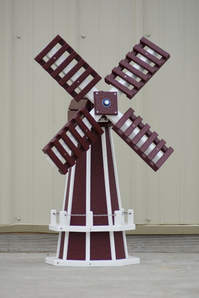 "30"" Octagon Poly Dutch Windmill (Cherry/white trim)"