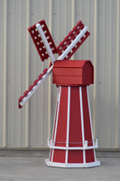 5 ft. Octagon Poly Dutch Windmill (Red with White trim)