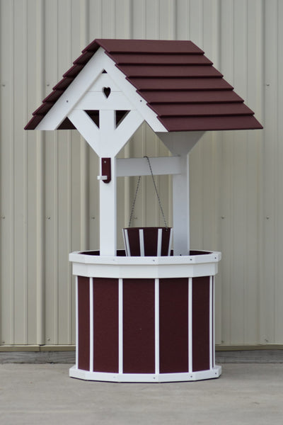 5.5 ft. Poly Wishing Wells with Planter Bucket