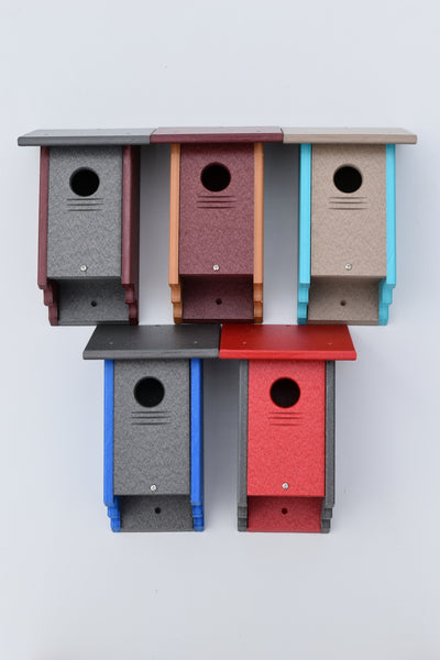 Poly wood Blue Bird House for Bluebirds and Finches