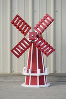 "30"" Octagon Poly Dutch Windmill (Red/white trim)"
