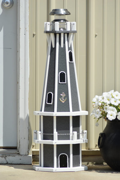 3 ft. Octagon, Solar Powered Poly Lighthouses
