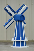 "30"" Octagon Poly Dutch Windmill (Blue/white trim)"