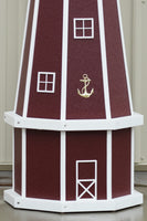 5 ft. Octagon Solar and Electric Powered Polywood Lighthouses Cherry with White trim
