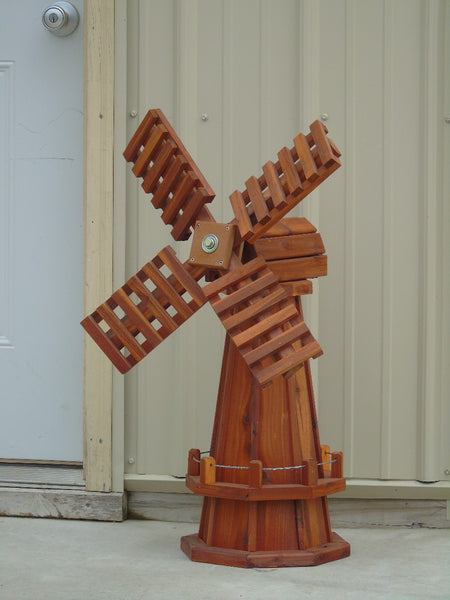 30 inch Octagon Red Cedar Dutch Windmill