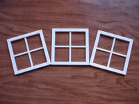 3-Mini Windows-White Decorative Windows