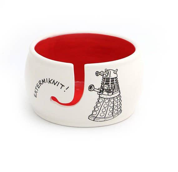Doctor Who Yarn Bowl, Extermiknit