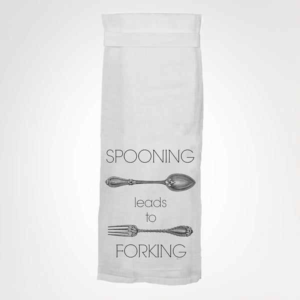 Spooning Leads To Forking Towel