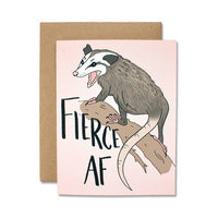 Fierce AF Greeting Card