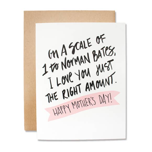 Norman Bates - Mothers Day Card
