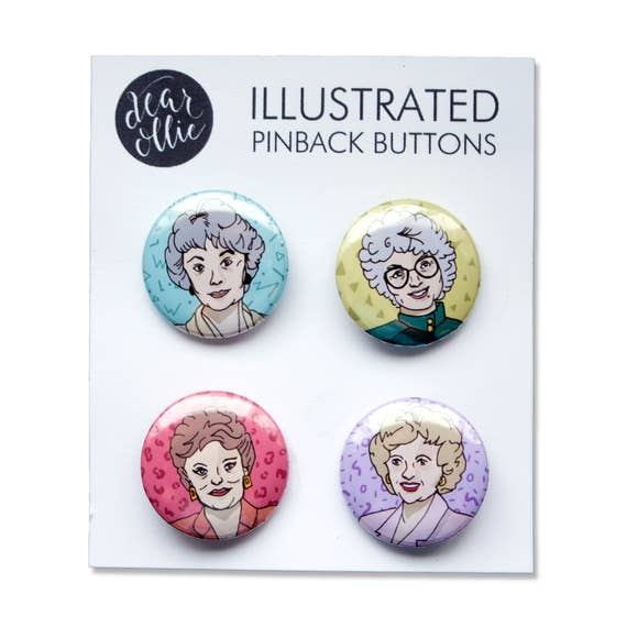 Golden Girls Pin Set