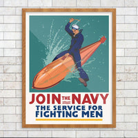 Join The Navy The Service For Fighting Men Print