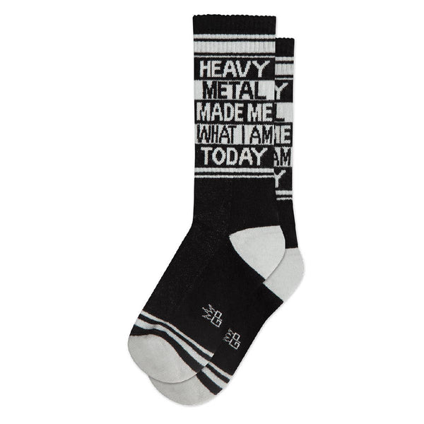 Heavy Metal Made Me Ribbed Gym Socks