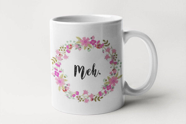 MEH - Floral Delicate And Fancy Coffee Mug for Non-Morning People