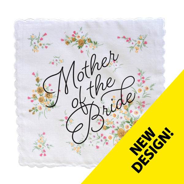 Mother Of The Bride Wedding Handkerchief- colors may vary