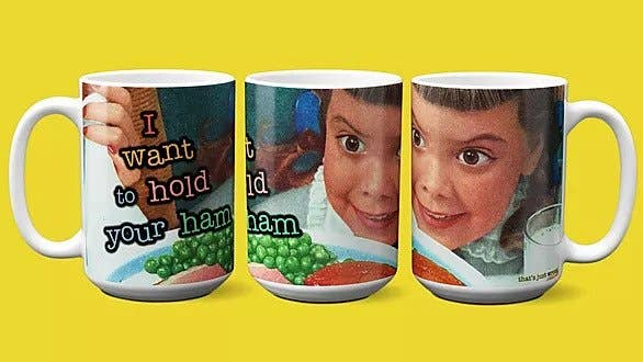 I Want to Hold Your Ham - Misheard Song Lyrics Mug - Large