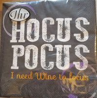Hocus Pocus I Need Wine to Focus - Cocktail Napkins