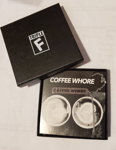 Coffee Whore Necklace