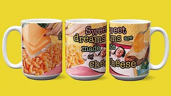 Sweet Dreams Are Made of Cheese -  Misheard Song Lyrics Mug - Large