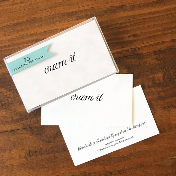 Cram It Insult Card - Pack of 30