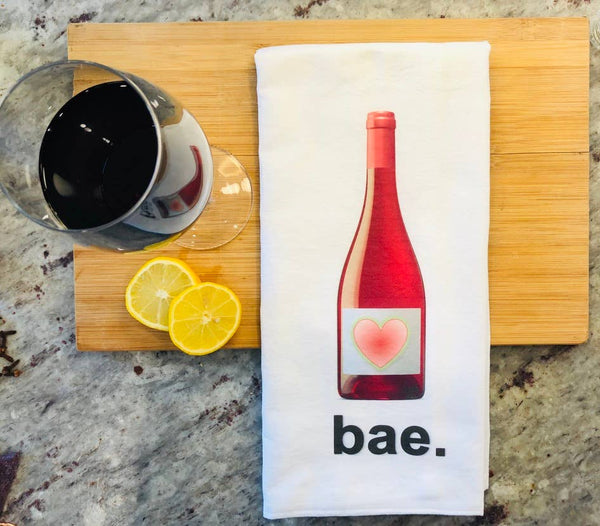 Bae  - Wine Tea Towel