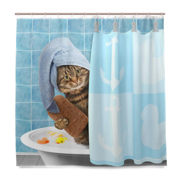 Funny Kitty Shower Curtain