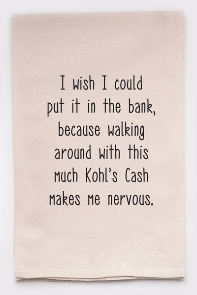 Kohls Cash Tea Towel