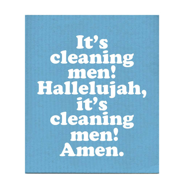 Hallelujah! It's Cleaning Men! Swedish Dishcloth