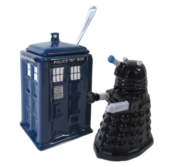 Dr Who-  Dalek & Tardis Creamer & Sugar Bowl