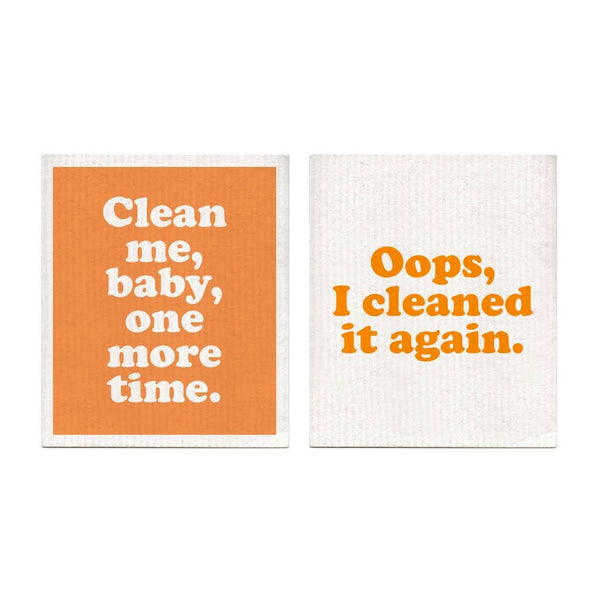 Oops I Cleaned It Again - Set of 2 Swedish Dishcloths