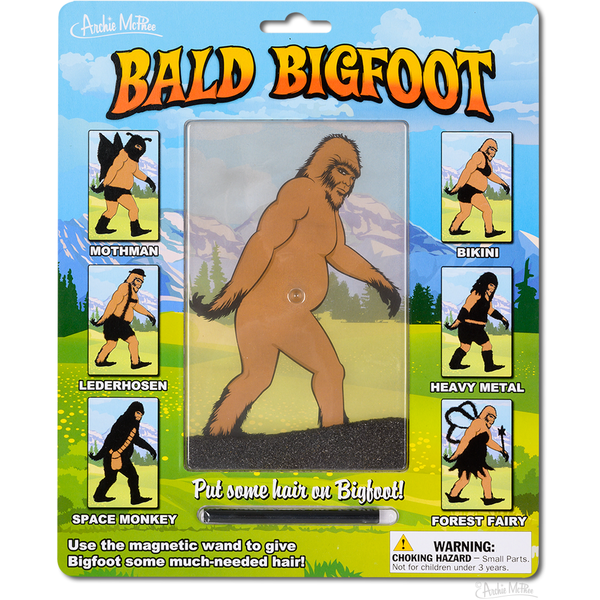 Bald Bigfoot Magnetic Drawing Toy