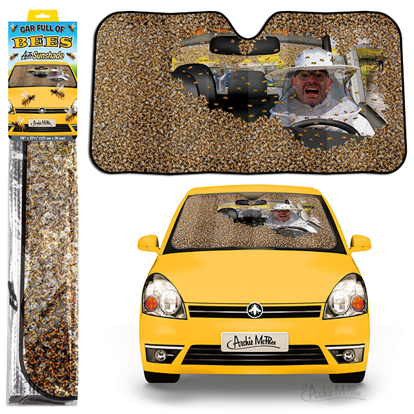 Car Full of Bees Auto Shade