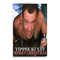 Die Hard Yippe Ki Yay Merry Christmas - Large Greeting Card - 8.5 x 5.5