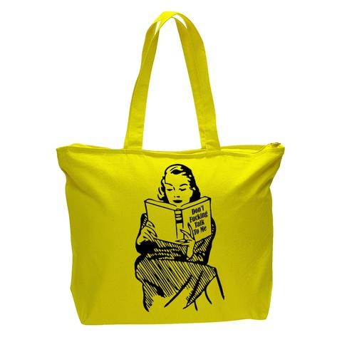 Don't Fucking Talk to Me Tote bag with Zipper