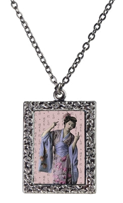 Geisha Flipping the Bird Necklace