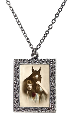 Horse and Lady Necklace