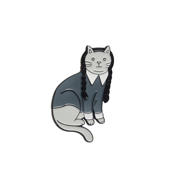 Wednesday Addams Kitty Pin