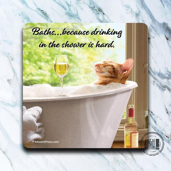 Baths... Because drinking in the shower is hard- Set of 4 Coasters