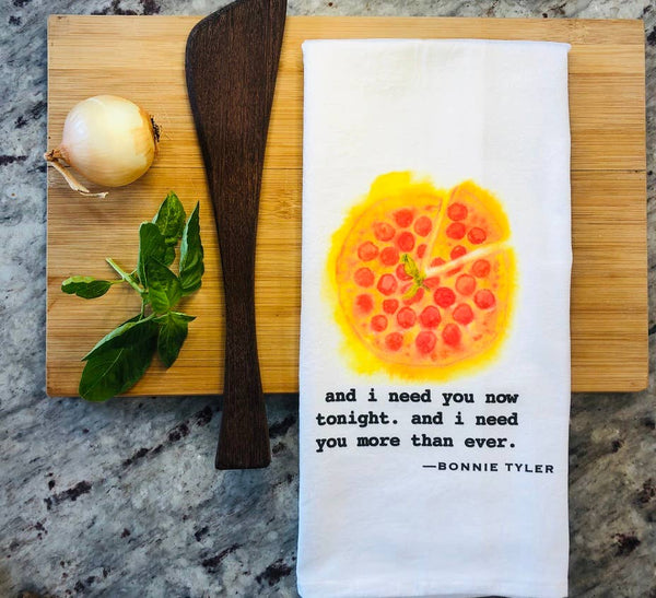 And I Need You Now Tonight, And I Need You More Than Ever - Bonnie Tyler Tea Towel