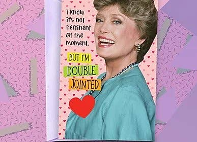 Golden Girls - Blanche -Double Jointed Card